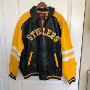Pittsburgh Steelers Faux Leather Jacket XXL